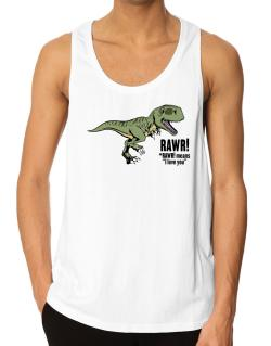 Polo Playero de Rawr means I Love You in dinosaur