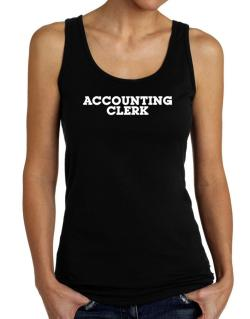 Accounting Clerk Tank Top Women