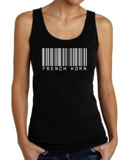 French Horn Barcode Tank Top Women