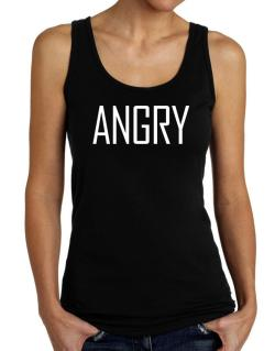 Angry - Simple Tank Top Women