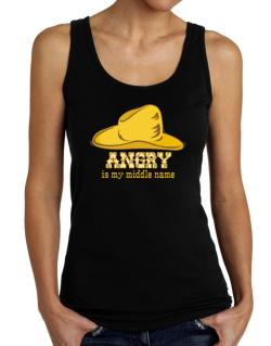 Angry Is My Middle Name Tank Top Women