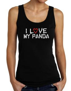 I Love My Panda Tank Top Women