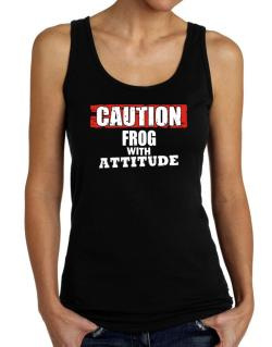 Caution - Frog With Attitude Tank Top Women