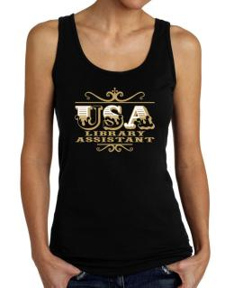 Usa Library Assistant Tank Top Women