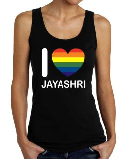 I Love Jayashri - Rainbow Heart Tank Top Women