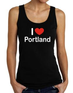 I Love Portland Tank Top Women