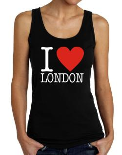 I Love London Classic Tank Top Women