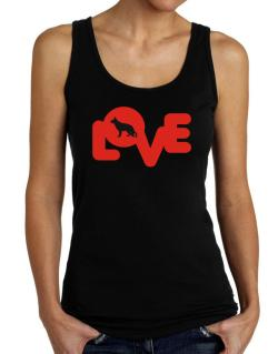 Love Silhouette German Shepherd Tank Top Women