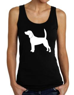 Beagle Silhouette Embroidery Tank Top Women