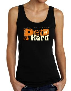 Life Is Short Pet Hard Beagle Tank Top Women