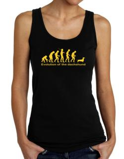 Evolution Of The Dachshund Tank Top Women