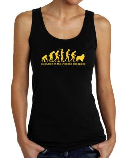 Evolution Of The Shetland Sheepdog Tank Top Women