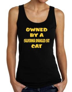 Owned By S California Spangled Cat Tank Top Women