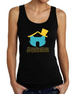 Home Is Where Applehead Siamese Is Tank Top Women