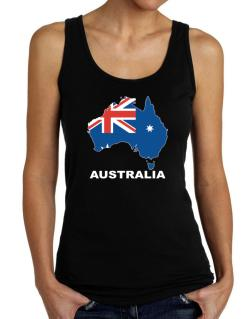 Australia - Country Map Color Tank Top Women