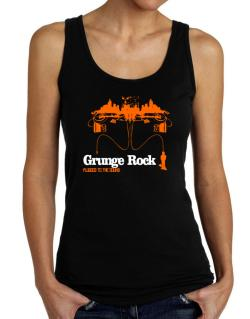 """  Grunge Rock plugged into the sound "" Tank Top Women"