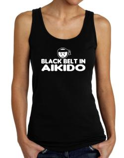 Black Belt In Aikido Tank Top Women