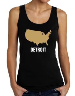 Detroit - Usa Map Tank Top Women