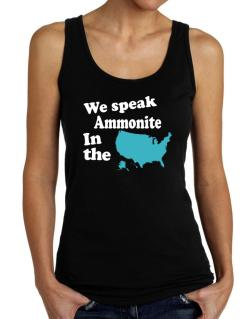 Ammonite Is Spoken In The Us - Map Tank Top Women