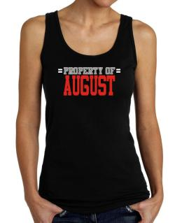 """ Property of August "" Tank Top Women"