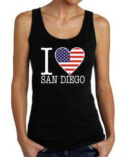 """ I love San Diego - American Flag "" Tank Top Women"