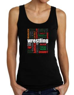 Wrestling Words Tank Top Women