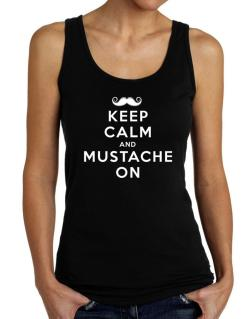 Mustache on Tank Top Women