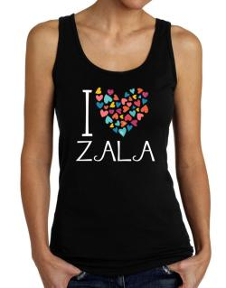 I love Zala colorful hearts Tank Top Women