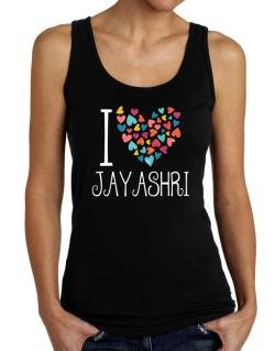 I love Jayashri colorful hearts Tank Top Women