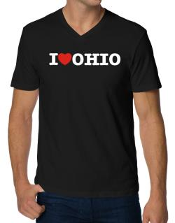 I Love Ohio V-Neck T-Shirt