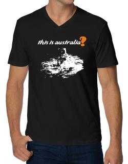 This Is Australia? - Astronaut V-Neck T-Shirt