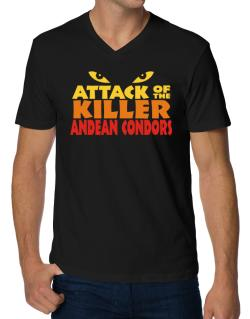 Attack Of The Killer Andean Condors V-Neck T-Shirt