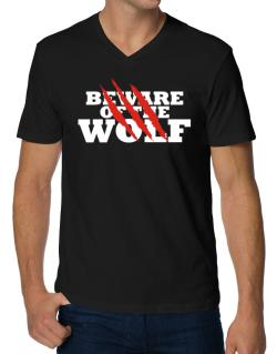 Beware Of The Wolf V-Neck T-Shirt