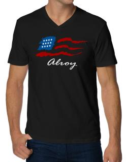Alroy - Us Flag V-Neck T-Shirt