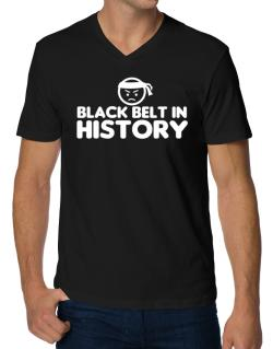 Black Belt In History V-Neck T-Shirt