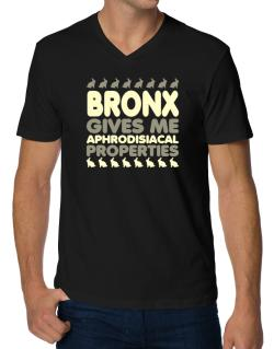 Bronx Gives Me Aphrodisiacal Properties V-Neck T-Shirt