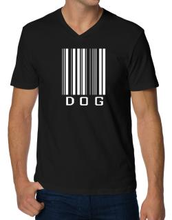 Dog Barcode / Bar Code V-Neck T-Shirt