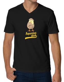 Aquarius Chick V-Neck T-Shirt
