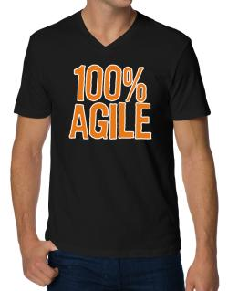 100% Agile V-Neck T-Shirt