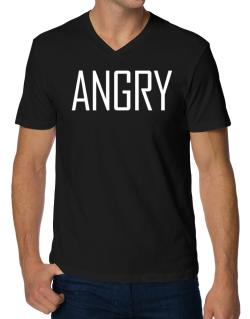 Angry - Simple V-Neck T-Shirt