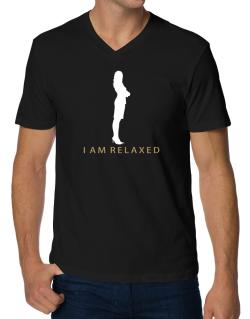 I Am Relaxed - Female V-Neck T-Shirt