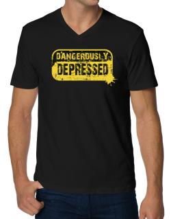 Dangerously Depressed V-Neck T-Shirt