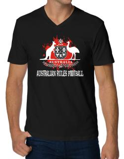 Australia Australian Rules Football / Blood V-Neck T-Shirt