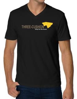 """"""" Three-Cushion - Only for the brave """" V-Neck T-Shirt"""