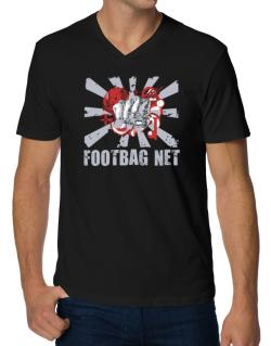 Footbag Net Fist V-Neck T-Shirt