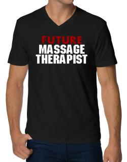 Playeras Cuello V de Future Massage Therapist