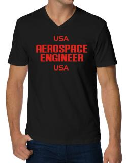 Usa Aerospace Engineer Usa V-Neck T-Shirt