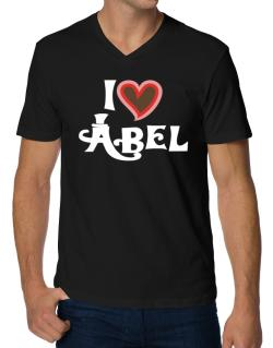 I Love Abel V-Neck T-Shirt