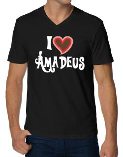 I Love Amadeus V-Neck T-Shirt