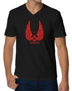 Amish - Wings V-Neck T-Shirt